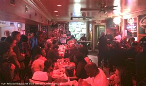Kermit Ruffins and his band, the Barbecue Swingers, have been playing a standing gig at Bullets every Tuesday night.