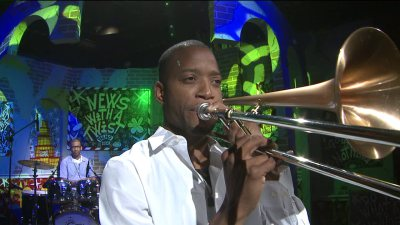 Trombone Shorty performs at White House