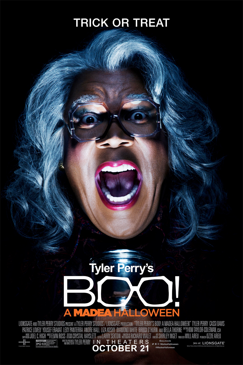 ENTER TO WIN 2 PASSES TO SEE TYLER PERRY'S 'BOO! A MADEA HALLOWEEN'