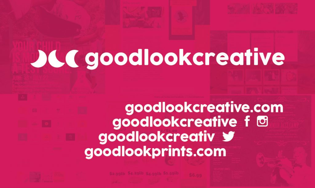Graphic Design • Website Development • Printing • Press Release Copy Writing • Social Media Management • Experiential Marketing • Direct Mail | www.goodlookcreative.com www.goodlookprints.com | 📧 info@goodlookcreative.com